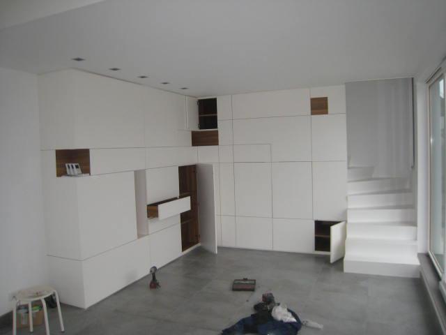 Réalisation d_une mezzanine et d_un meuble dans espace réduit7